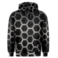 Hexagon2 Black Marble & Gray Metal 1 Men s Pullover Hoodie