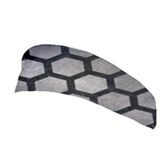 Hexagon2 Black Marble & Gray Metal 1 (r) Stretchable Headband