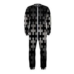 Puzzle1 Black Marble & Gray Metal 1 Onepiece Jumpsuit (kids)