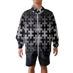 Puzzle1 Black Marble & Gray Metal 1 Wind Breaker (kids)