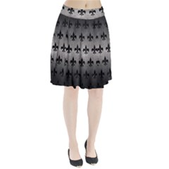 Royal1 Black Marble & Gray Metal 1 Pleated Skirt