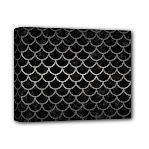 Scales1 Black Marble & Gray Metal 1 Deluxe Canvas 14  X 11