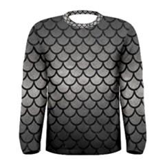 Scales1 Black Marble & Gray Metal 1 (r) Men s Long Sleeve Tee