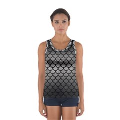 Scales1 Black Marble & Gray Metal 1 (r) Sport Tank Top