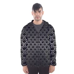 Scales2 Black Marble & Gray Metal 1 Hooded Wind Breaker (men)