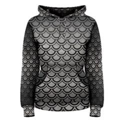Scales2 Black Marble & Gray Metal 1 (r) Women s Pullover Hoodie