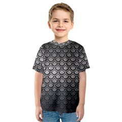 Scales2 Black Marble & Gray Metal 1 (r) Kids  Sport Mesh Tee