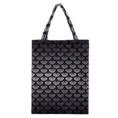 Scales3 Black Marble & Gray Metal 1 (r) Classic Tote Bag