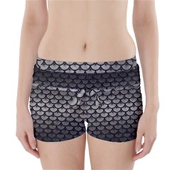 Scales3 Black Marble & Gray Metal 1 (r) Boyleg Bikini Wrap Bottoms