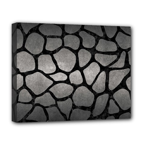 Skin1 Black Marble & Gray Metal 1 Deluxe Canvas 20  X 16