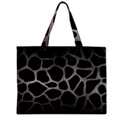 Skin1 Black Marble & Gray Metal 1 (r) Zipper Mini Tote Bag