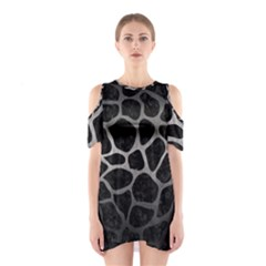Skin1 Black Marble & Gray Metal 1 (r) Shoulder Cutout One Piece