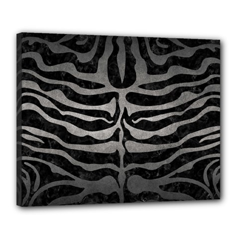 Skin2 Black Marble & Gray Metal 1 Canvas 20  X 16