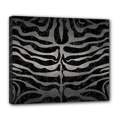 Skin2 Black Marble & Gray Metal 1 Deluxe Canvas 24  X 20