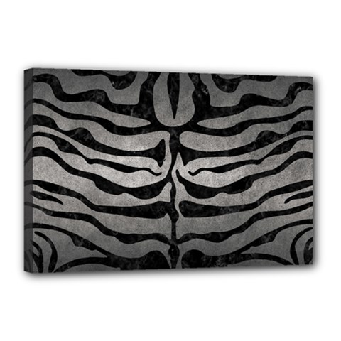 Skin2 Black Marble & Gray Metal 1 (r) Canvas 18  X 12