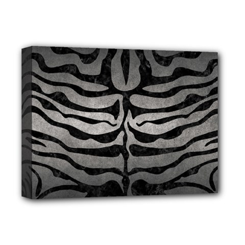 Skin2 Black Marble & Gray Metal 1 (r) Deluxe Canvas 16  X 12