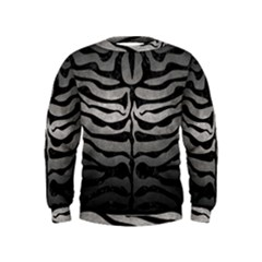 Skin2 Black Marble & Gray Metal 1 (r) Kids  Sweatshirt