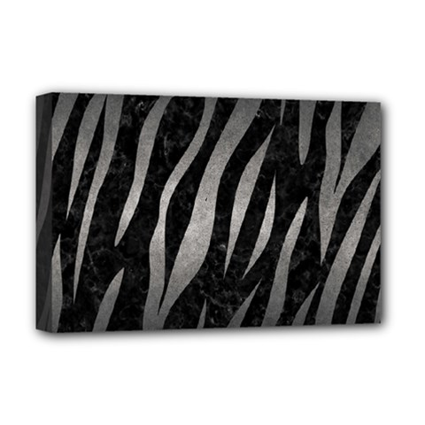 Skin3 Black Marble & Gray Metal 1 Deluxe Canvas 18  X 12