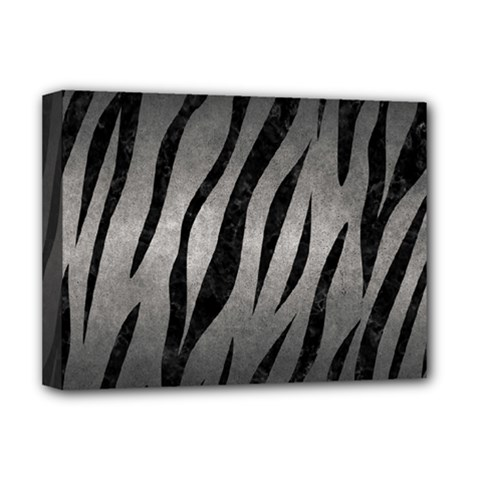 Skin3 Black Marble & Gray Metal 1 (r) Deluxe Canvas 16  X 12