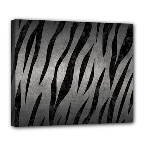Skin3 Black Marble & Gray Metal 1 (r) Deluxe Canvas 24  X 20
