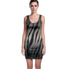 Skin3 Black Marble & Gray Metal 1 (r) Bodycon Dress