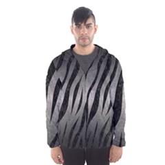 Skin3 Black Marble & Gray Metal 1 (r) Hooded Wind Breaker (men)