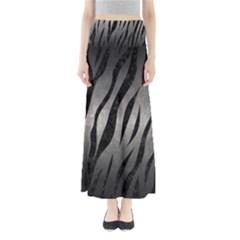 Skin3 Black Marble & Gray Metal 1 (r) Full Length Maxi Skirt