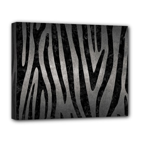 Skin4 Black Marble & Gray Metal 1 Deluxe Canvas 20  X 16