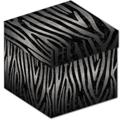 Skin4 Black Marble & Gray Metal 1 (r) Storage Stool 12