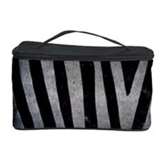 Skin4 Black Marble & Gray Metal 1 (r) Cosmetic Storage Case