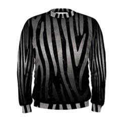 Skin4 Black Marble & Gray Metal 1 (r) Men s Sweatshirt