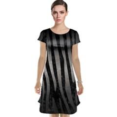 Skin4 Black Marble & Gray Metal 1 (r) Cap Sleeve Nightdress