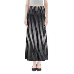 Skin4 Black Marble & Gray Metal 1 (r) Full Length Maxi Skirt