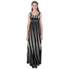 Skin4 Black Marble & Gray Metal 1 (r) Empire Waist Maxi Dress
