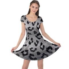 Skin5 Black Marble & Gray Metal 1 Cap Sleeve Dress