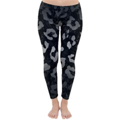 Skin5 Black Marble & Gray Metal 1 (r) Classic Winter Leggings