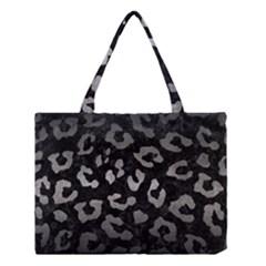 Skin5 Black Marble & Gray Metal 1 (r) Medium Tote Bag