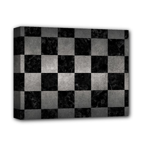 Square1 Black Marble & Gray Metal 1 Deluxe Canvas 14  X 11