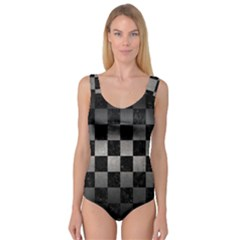 Square1 Black Marble & Gray Metal 1 Princess Tank Leotard