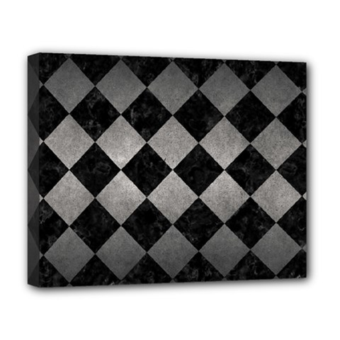 Square2 Black Marble & Gray Metal 1 Deluxe Canvas 20  X 16