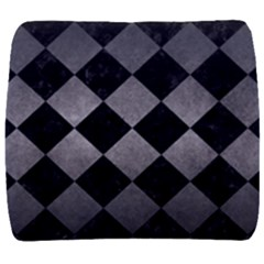 Square2 Black Marble & Gray Metal 1 Back Support Cushion