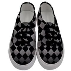 Square2 Black Marble & Gray Metal 1 Men s Classic Low Top Sneakers