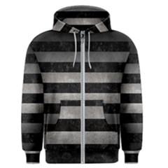 Stripes2 Black Marble & Gray Metal 1 Men s Zipper Hoodie