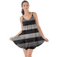 Stripes2 Black Marble & Gray Metal 1 Love The Sun Cover Up