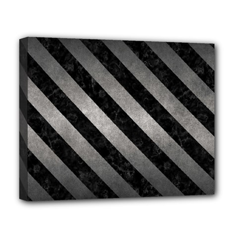 Stripes3 Black Marble & Gray Metal 1 (r) Deluxe Canvas 20  X 16