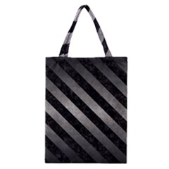 Stripes3 Black Marble & Gray Metal 1 (r) Classic Tote Bag