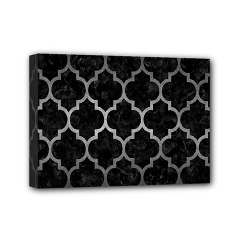 Tile1 Black Marble & Gray Metal 1 Mini Canvas 7  X 5