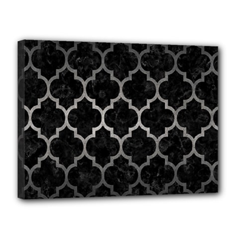 Tile1 Black Marble & Gray Metal 1 Canvas 16  X 12