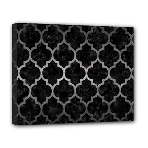 Tile1 Black Marble & Gray Metal 1 Deluxe Canvas 20  X 16