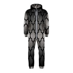 Tile1 Black Marble & Gray Metal 1 (r) Hooded Jumpsuit (kids)